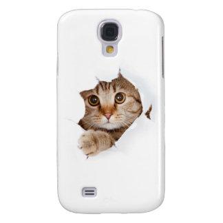 Cat tearing paper - looking cat - cute cats - pet galaxy s4 case