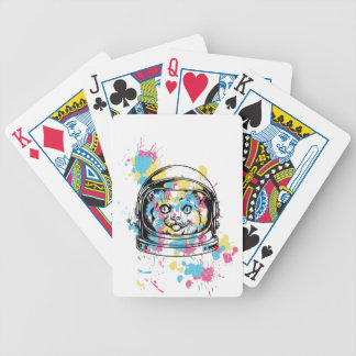 cat the astronuat bicycle playing cards