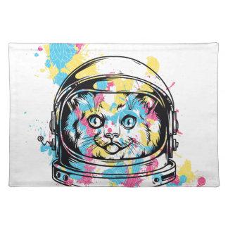 cat the astronuat placemat