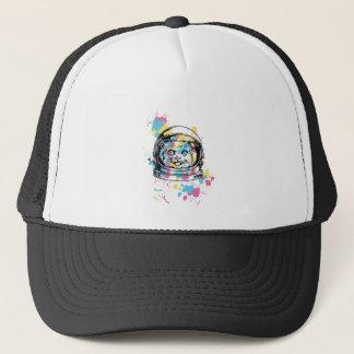 cat the astronuat trucker hat