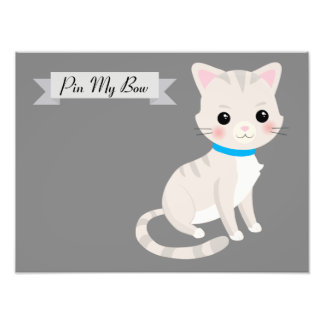 cat theme party game photo print