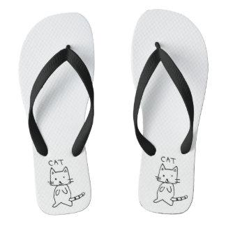 cat thongs/ flip flaps thongs
