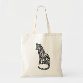 cat tote budget tote bag