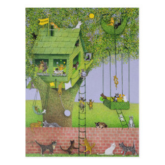 Cat Tree House Postcard