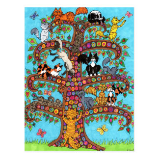 Cat Tree of Life 2 Postcard