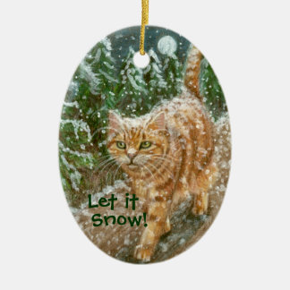 Cat trees Let It Snow Ornament