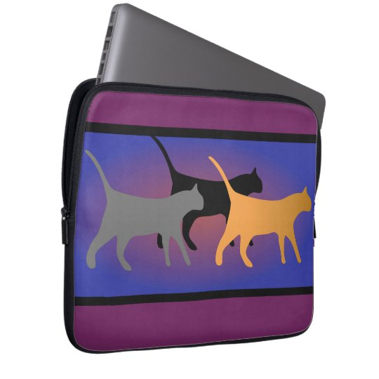 Cat Trio Neoprene Laptop Sleeve