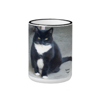 Cat - Tuxedo, 15oz Cup Ringer Mug