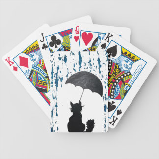 Cat Under Umbrella Bicycle Playing Cards