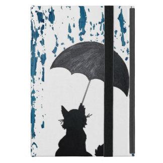 Cat Under Umbrella Case For iPad Mini