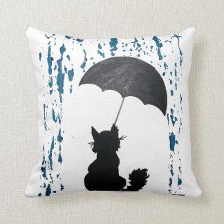 Cat Under Umbrella Cushion