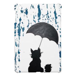 Cat Under Umbrella iPad Mini Cases