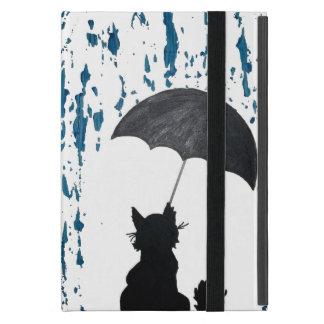 Cat Under Umbrella iPad Mini Cover