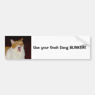 Cat Use your Blinker Bumper Sticker