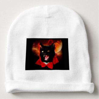 cat vampire - black cat - funny cats baby beanie
