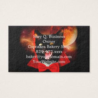 cat vampire - black cat - funny cats business card