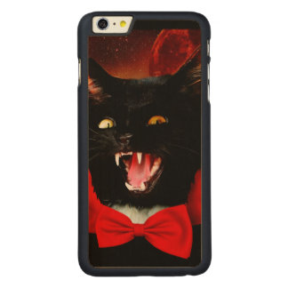 cat vampire - black cat - funny cats carved maple iPhone 6 plus case