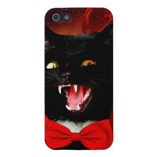 cat vampire - black cat - funny cats iPhone 5 cover