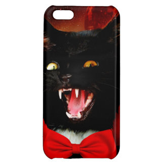 cat vampire - black cat - funny cats iPhone 5C case