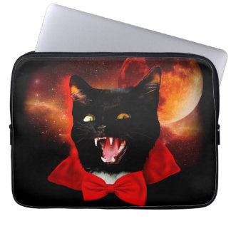 cat vampire - black cat - funny cats laptop sleeve