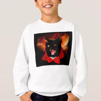 cat vampire - black cat - funny cats sweatshirt