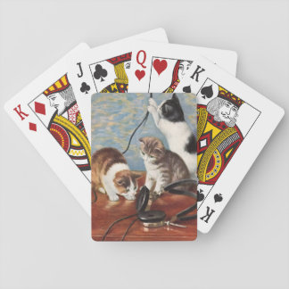 Cat vintage playing cards