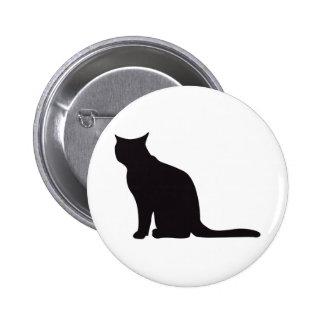 Cat Vintage Wood Engraving Pinback Button