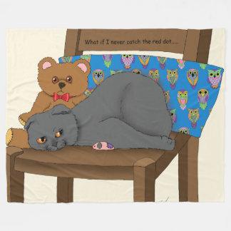 Cat vs Red Dot Fleece Blanket