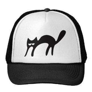 Cat Walking About Black Hi Eyes Trucker Hat