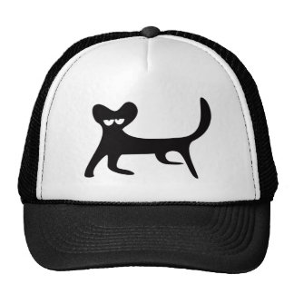 Cat Walking Sideways Black Hi Eyes Hat