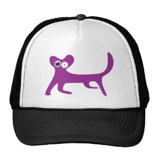 Cat Walking Sideways Purple Stunned Eyes Mesh Hats