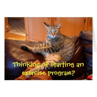 Cat - wanna exercise Birthday card