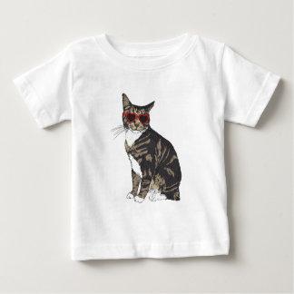 Cat Wearing Heart Glasses Baby T-Shirt