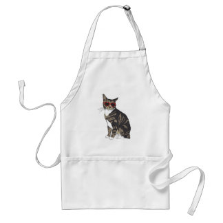 Cat Wearing Heart Glasses Standard Apron