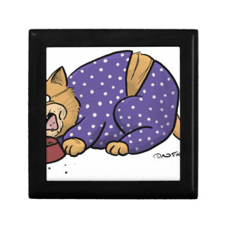 Cat Wearing Purple Polka Dots Pajama Gift Box