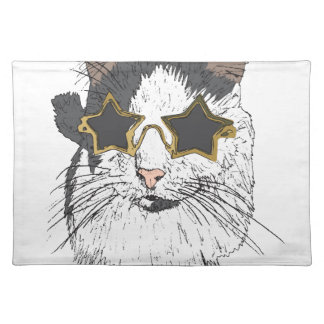 Cat Wearing Star Glasses Placemat