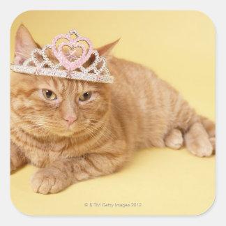 Cat wearing tiara stickers