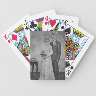 Cat wedding bicycle playing cards