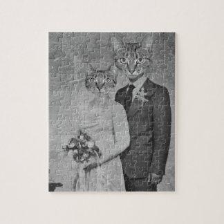Cat wedding jigsaw puzzle
