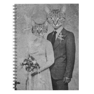 Cat wedding notebook