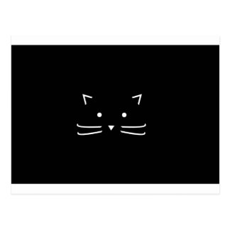 Cat Whiskers Cute Outline Halloween Design Postcard