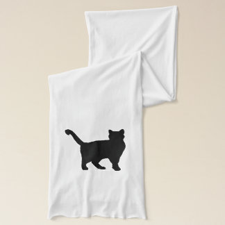 """""""Cat"""" White Jersey Scarf"""