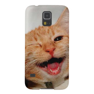 Cat winking - orange cat - funny cats - cat smile case for galaxy s5