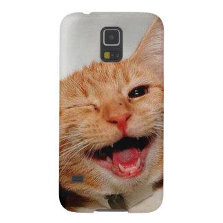 Cat winking - orange cat - funny cats - cat smile galaxy s5 cover