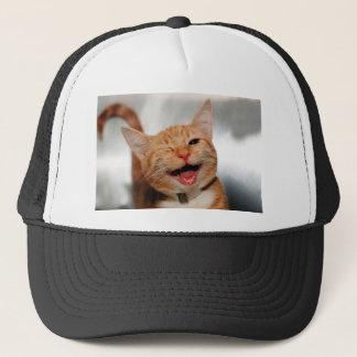 Cat winking - orange cat - funny cats - cat smile trucker hat