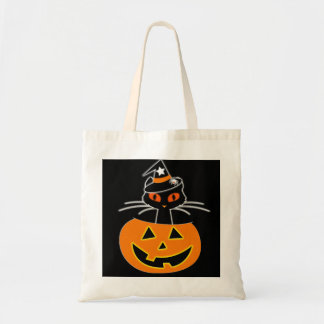 Cat Witch Halloween set Tote Bag