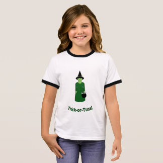 Cat Witch Trick-or-Treater Girls' T-Shirt