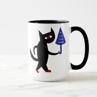 Cat With An Umbrella Mug