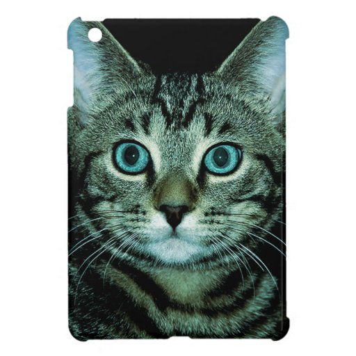 Cat with Aqua Eyes Customize pet house Eye Cover For The iPad Mini