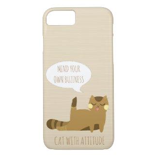 Cat with attitude iPhone 8/7 case